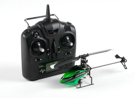 HiSky HFP80 V2迷你固定摊位遥控直升机模式2(立即飞)