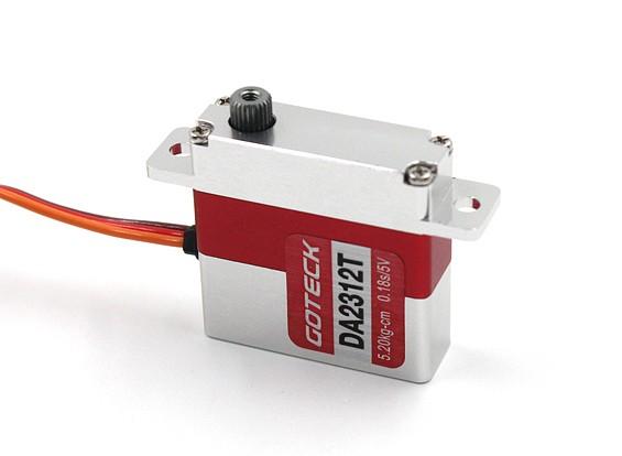 Goteck DA2312T数字MG金属壳公园伺服23克/6.4公斤/ 0.16sec