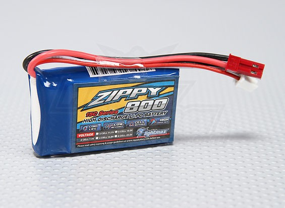 ZIPPY Flightmax 800mAh的2S1P 15-25℃