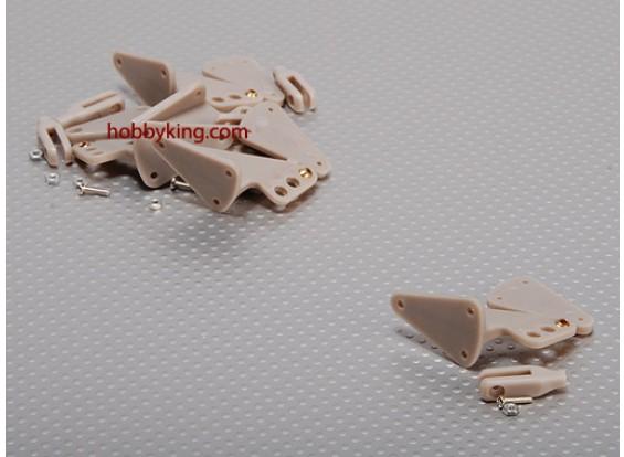 霍恩X大瓦特/耳环40x30mm和孔(5件/套)