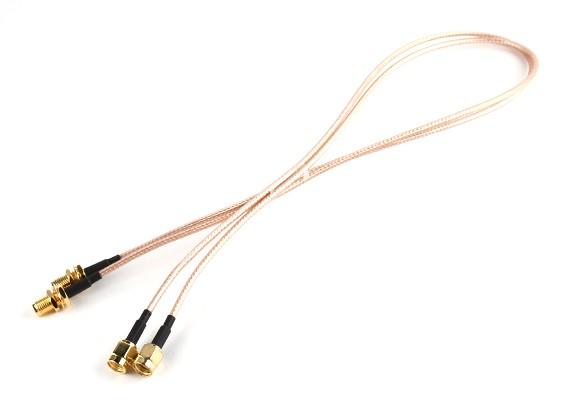 SMA插头< - > SMA杰克500毫米RG316扩展(2件/套)