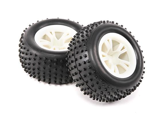 轮胎(1对) -  H.King磨耗1/8四驱越野车