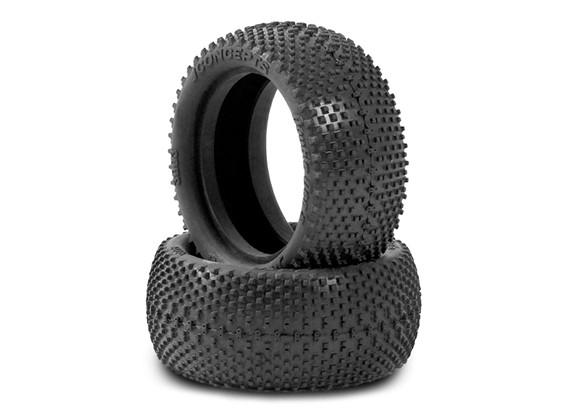 JCONCEPTS双迪的1/10四驱越野车前轮胎 - 黑色(MEGA软)复合