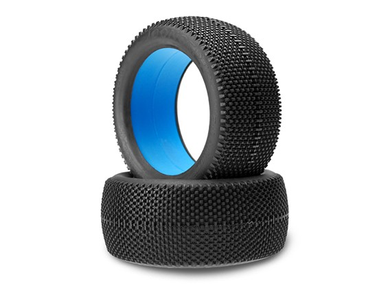 JCONCEPTS黑色夹克1/8卡车轮胎 - 蓝(软)复合