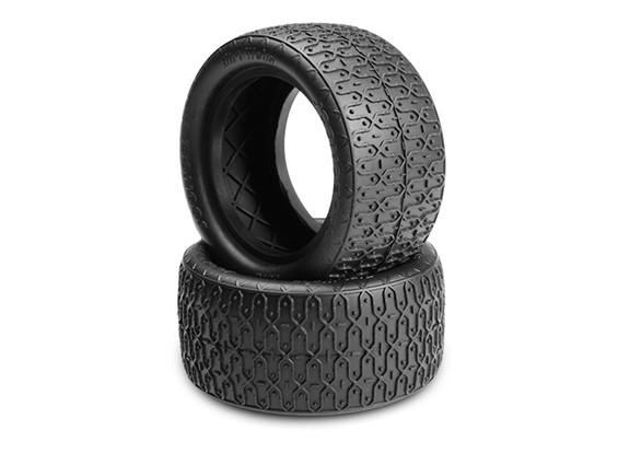 JCONCEPTS污垢织物1/10越野车后胎 - 黑色(MEGA软)复合
