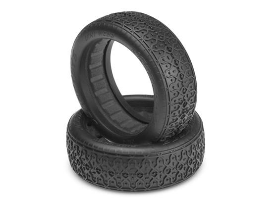 JCONCEPTS污垢织物1/10 2WD越野车60毫米前轮胎 - 银(室内超软)复合