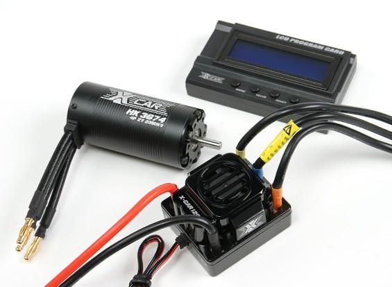 HobbyKing®™的X车野兽系列电动机和120A ESC组合1/8比例