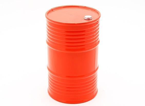 1/10比例45加仑的油桶 - 橙色
