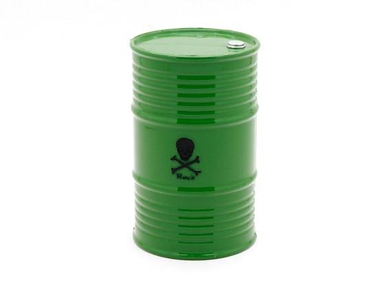 1/10比例45加仑的油桶 - 绿色