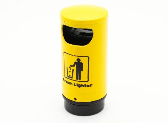 1/10比例垃圾桶 - 黄色