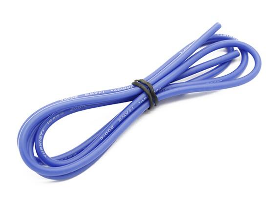 Turnigy高品质14AWG硅胶线1M线(由蓝)