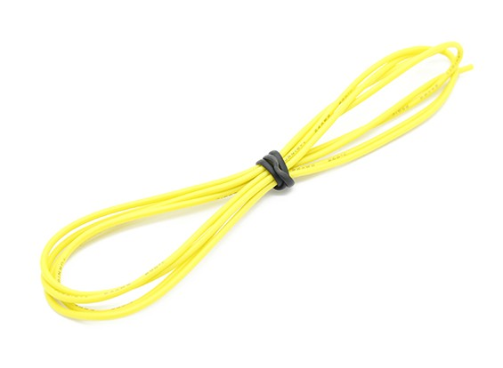 Turnigy高品质24AWG硅胶线1M线(由黄色)