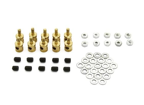 黄铜联动塞2毫米推杆(10片装)