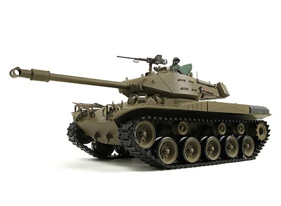 美国M41A3斗牛沃克轻型遥控坦克RTR瓦特/气枪,TX,声音发生器和烟雾(AR仓库)