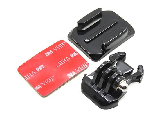 头盔安装与Turnigy行动凸轮/ GoPro的相机快速释放