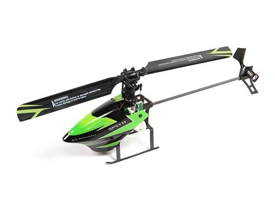WL玩具V955天空舞者4路无副翼直升机随时准备起飞的2.4GHz