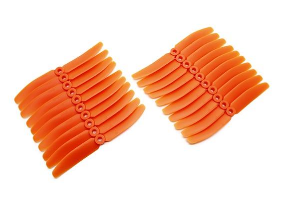 Gemfan多转子ABS整箱装5x4的橙色(CW / CCW)(10对)