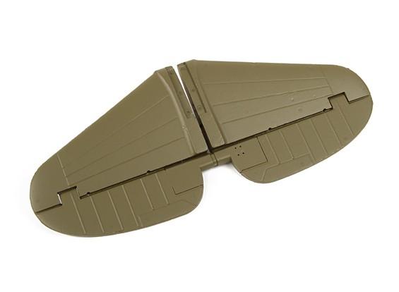 更换水平安定面的Durafly寇蒂斯P-40N战鹰