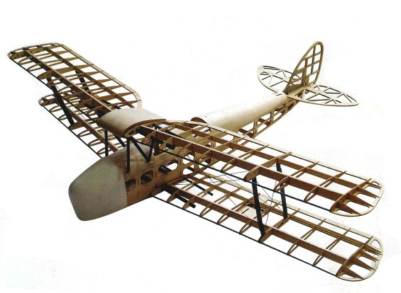 德·哈维兰DH82a虎蛾双翼飞机1400毫米激光切割轻木套装