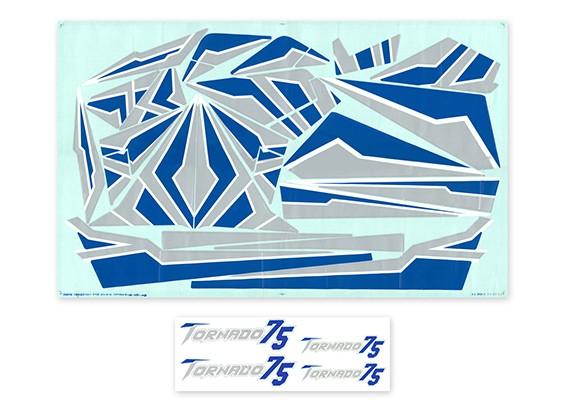 H-王旋风75 EDF喷气 - 更换贴纸套装