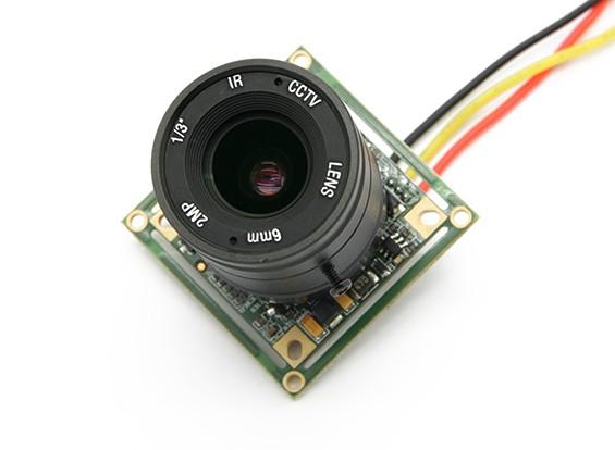 三分之一英寸的Sony CCD摄像机700TV线F1.2 200万像素IR(PAL)