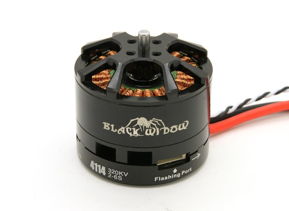 黑寡妇4114-320Kv带有内置ESC顺时针/逆时针