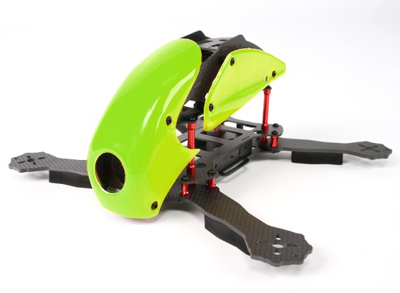 HobbyKing™RoboCat270毫米真正的赛车的碳四(绿)