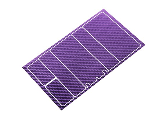 TrackStar装饰电池盖板为2S矮个子包金属紫碳图案(1件)