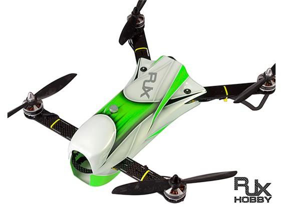RJX CAOS 330 FPV赛车四轴飞行器组合瓦特/汽车公司,ESC的与飞行控制器(绿色)