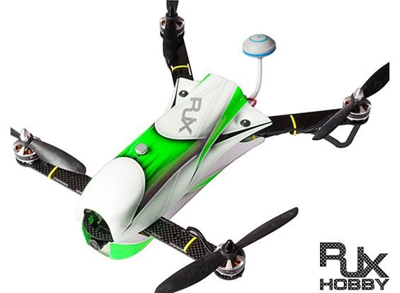 RJX CAOS 330 FPV赛车四路组合瓦特/马达,ESC,飞行控制器,相机和FPV系统(绿)