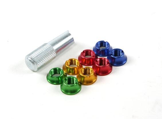 彩色编码发射器开关固定螺母
