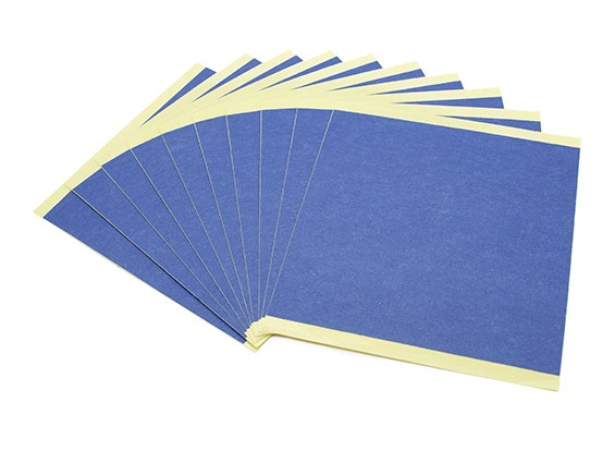 Turnigy迷你Fabrikator 3D打印机V1.0配件 - 蓝打印纸床(10片装)