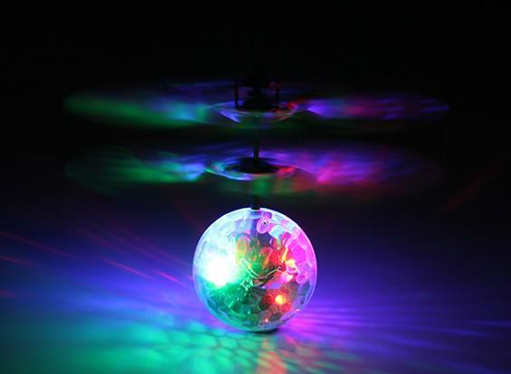 飞闪烁LED水晶迪斯科球与USB充电导线