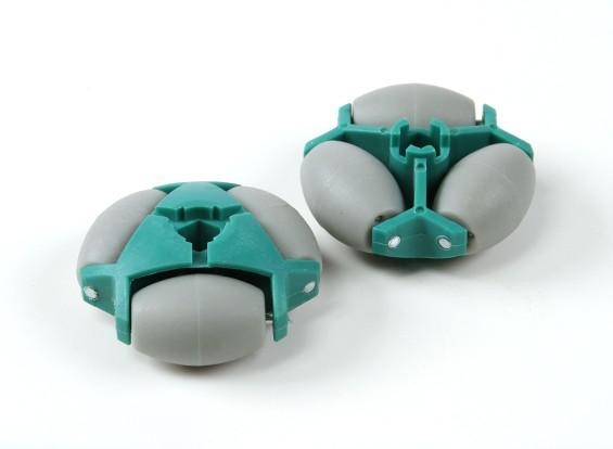 WE-02A全向双层机器人轮48毫米或25kg /六角配件