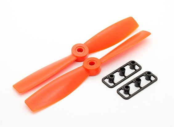 GemFan牛鼻5046 GRP /尼龙螺旋桨顺时针/逆时针设置橙色(1对)