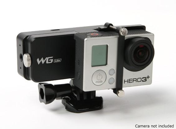 飞宇科技WGS精简版单轴耐磨万向为GoPro的英雄3 / 3plus / 4或类似尺寸