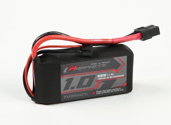 Turnigy石墨烯1000mAh的3S锂聚合物45包瓦特/ XT60