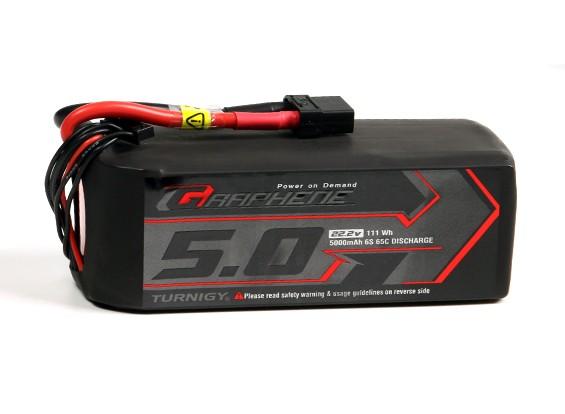 Turnigy石墨烯5000mAh的6S锂聚合物65包瓦特/ XT90