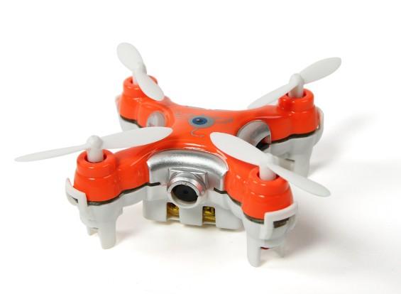 CX-10C纳米四轴飞行器带有内置摄像头0.3MP的2.4GHz RTF(红色)(模式2的Tx)