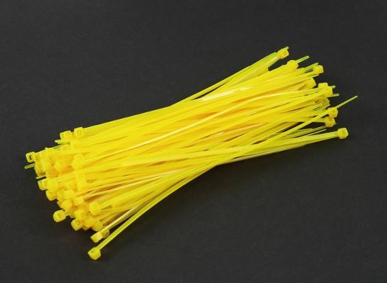 扎带150毫米x 3mm的黄色(100个)