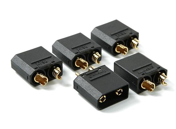 尼龙XT90连接男性(5个/袋)黑