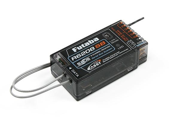 双叶R6208SB FASST 2.4GHz的8/18通道系统总线高压接收器
