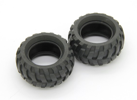 轮胎(2个) - 锤RockSta 1/24四轮转向小型履带式摇滚