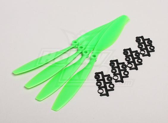 GWS风格Slowfly螺旋桨10x4.5绿色(CCW)(4件)