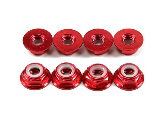 铝法兰薄型螺母Nyloc M5红(CW)8片