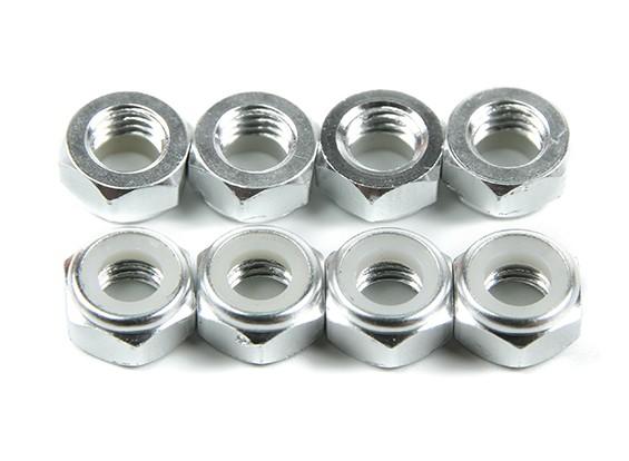铝合金薄型螺母Nyloc银M5(CCW)8片