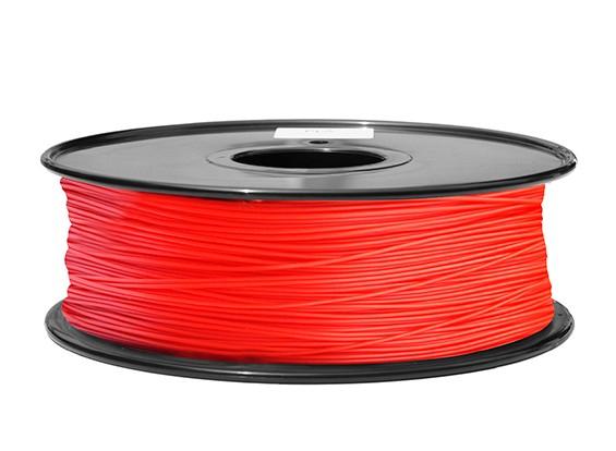 HobbyKing 3D打印机长丝1.75毫米解放军1KG阀芯(红)