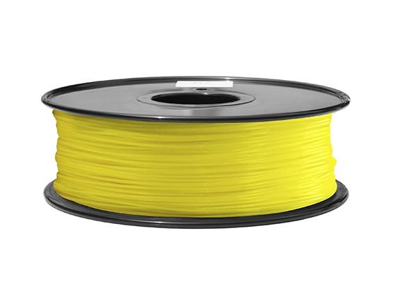 HobbyKing 3D打印机长丝1.75毫米ABS 1KG阀芯(黄色)