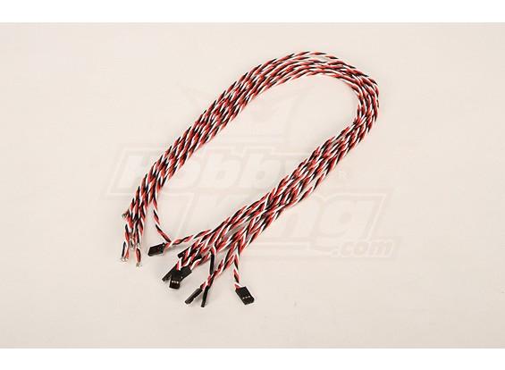 60厘米双叶男22AWG双绞线(10片/袋)