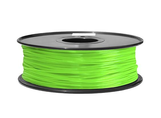 HobbyKing 3D打印机长丝1.75毫米ABS 1KG阀芯(绿色)